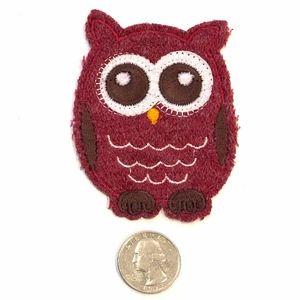 Owl patch iron on bird animal DIY cute appliqué